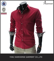 wholesale small quantity clothing for men red shirts cheap