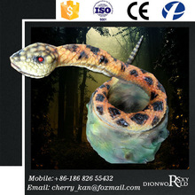 SXY Dinoworld Zoo Decoration High Quality Robotic Snake For Sale