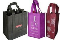 wine bottle jute bags with six partition