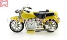 Mini zinc alloy motorbike table design clock