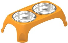 2015 new double stainless steel dog bowl