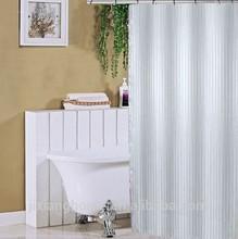 Damask Polyester Plain White Shower Curtain