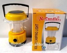 The famous brand waterproof fashion double panels solar led lantern lamp, Solar led camping lantern ,solar light to UAE