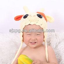 Handmade animal crochet pattern hats, custom cotton baby hats