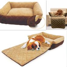 Free Shipping Soft Warm Dog Sofa Pet/Cat Soft Warm Pet Funny Bed Dog Cushion Puppy Sofa 3 Ways Useages