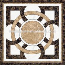 Beautiful random mosaic tiles, modern waterjet flooring design