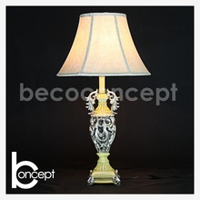 76 CM High Quality hand painted Antique Moulded Resin Table Lamp