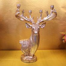 [New ] resin deer first European minimalist art style candlestick candlesticks Home Decoration Crafts