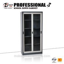 sliding door metal hospital cabinet half glass door
