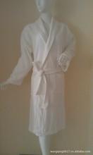 unisex cotton/polyester waffle bathrobe for hotel