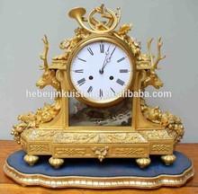 brass antique European royal craft decorative brass clock