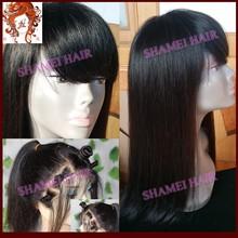 2015 Hot Selling New Design Silky Straight Virgin Brazilian Thin Skin Full Lace Wigs