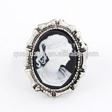 Queenzen trèfle anneau dames doigt anneau de naissance anneau pendentif