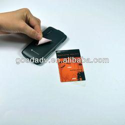 Guangzhou hot Adhesive mobile phone screen cleaner sticky /mobile phone screen cleaner sticker