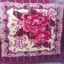New design embroidered blanket, embroidered bed blanket wholesaler