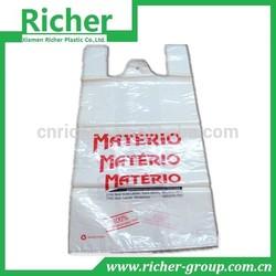 Print White Plastic T shirt Shopping Bag Wholesale