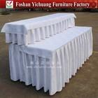 fancy decorative table skirt/ruffled table skirtings wedding table skirting YC-0284-03
