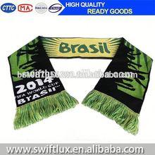 factory direct football scarf for brazil fan