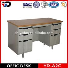 Ufficio in acciaio scrivania made in china gambe mobili in ferro lavorato/Best tavolo in acciaio