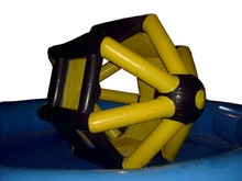 2015 Hot selling inflatable water wheel for aquatic park