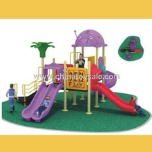 Facility Outdoor Animal Playground Double Slide Red Color
