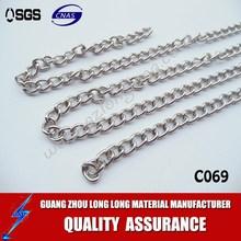 metal chain handle for woman leather handbag/metal chain accessories