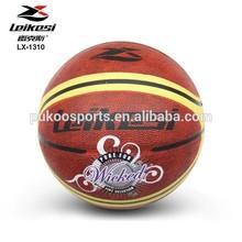 Multi color custom rubber basketballs