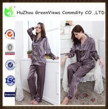 Adultos pijamas set, Mujeres pijamas de seda, Ropa de dormir, De la fábrica venta al por mayor precio, Más el tamaño Multicolor del artículo. Gvps5001