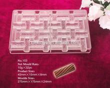 q103 de hielo de plástico molde de bloque