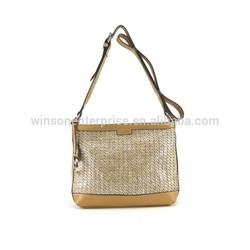 New arrival high quality fashion woman shoulder bag 2015, raffia straw bag cross body