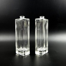 clear smooth 50ml perfume glass bottle with sprayer