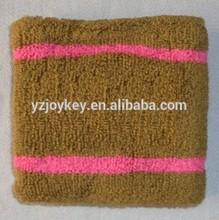 jacquard striped wrist sweatband