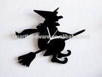 Halloween decorative WITCH wall clock Acrylic wall clock