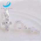 large sterling silver cross pendant,sterling silver cross pendant for bracelet,wholesale silver cross pendant