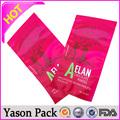 Yason plástico transparente líquido sacos de leite selo de três lados doces saco de plástico de embalagens de plástico amarelo médica saco de lixo