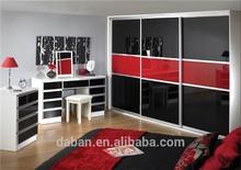 black and red sliding closet doors