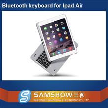 For Ipad Stand Aluminum 360 Degreen Rotation Aluminium Bluetooth Wireless Laptop Keyboard Arabic For Ipad Air 2 Case/For Ipad 6