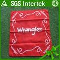 de poliéster y algodón orgánico pañuelo rojo