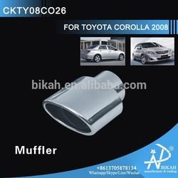 CHROME Muffler FOR TOYOTA COROLLA 2008 modify steel