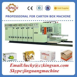 Fruit and vagatables carton box making machine /paperboard automatic printing slotter die-cutter machine with lead edge feeder