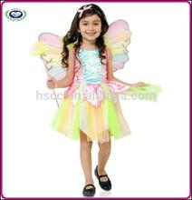 Top sale 2015 beautiful rainbow fairy princess kids dance costumes for Carnival Halloween HSCC-0981