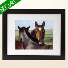 2015 new product animal oil painting of horses