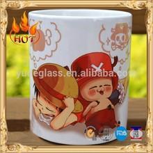 One Piece painting white ceramic mug