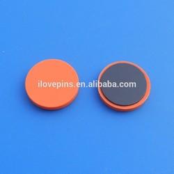 Beautiful orange color round pvc fridge magnet
