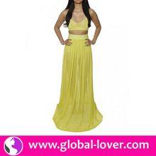 2015 hot selling plus size dresses high slit