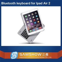 Mini Wireless Keyboard 360 Degreen Rotation Aluminium Bluetooth Wireless Laptop Arabic Keyboard For Ipad Air 2 Case/For Ipad 6