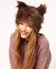 2014 New Winter Fur Faux Fashion Rabbit Ears woman winter cap SV010903