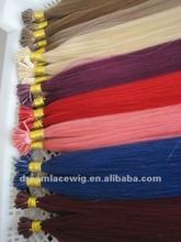 100% Human Hair I Tip Hair Extensions All Color Avaiable 6A Brazilian/Malaysian/Peruvian Virgin Hair Straight/Body Wave