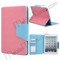 Magnetic Flip Case for iPad Mini, Contrast Color Leather Case for iPad Mini With Card Slots, for iPad Mini Leather Case