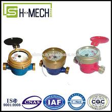 single jet brass body tamper dry dial water flow meter